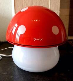 Duux Air Humidifier and Night Light - Mushroom Red
