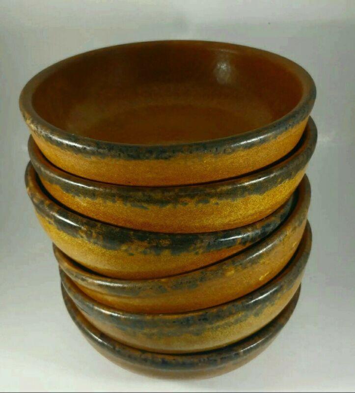 6 Vintage McCoy Pottery USA Canyon Mesa Soup Cereal Salad Bowl 1413