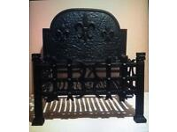 Fire basket with back plate