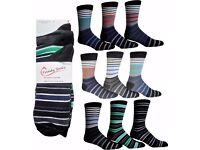 Wholesale Socks/ Job Lot/ Bargain Price: Mens Striped Socks 75 Packs (225 Pairs)