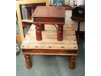 Indian square hardwood tables