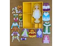 Melissa and Doug wooden magnetic dress up doll