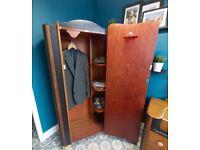 ** Art Deco style Vintage Gentlemans' Closet / petite Wardrobe & matching Dresser **