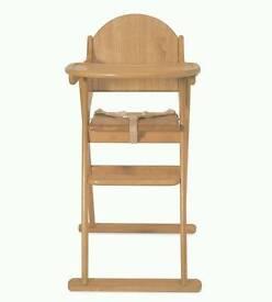 Baby woiden high chair