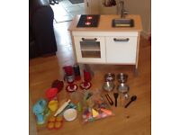 IKEA play kitchen with light up hob, Plus various kitchen play sets