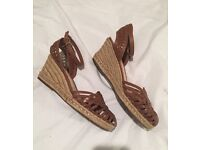 MUST SELL - leather espadrilles perfect for summer