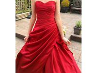 Wedding dress, Stunning, Claret, (Burgandy, Red), size 8-10