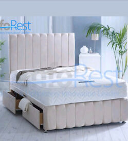 4 Drawer double divan bed