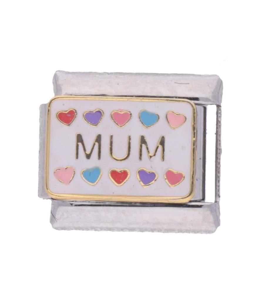 fits 9mm Italian charm bracelets My Mum My Son Double Enamel Italian Charm