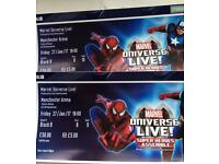 2 tickets Marvel Universe Live Premium tickets Block B Row B