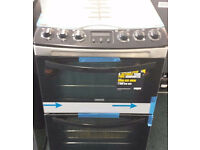 Zanussi Black Gas Cooker 60cm Wide Double oven (New) with Free Delivery