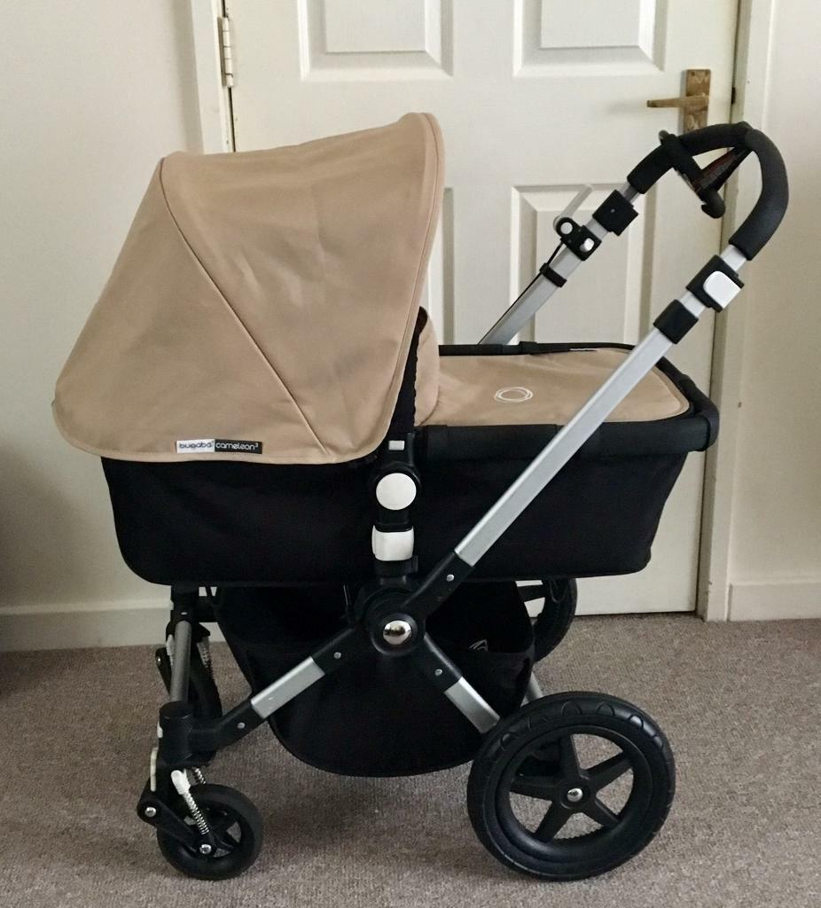 beautiful bugaboo cameleon 3 in sand black plus accessories in walthamstow london gumtree. Black Bedroom Furniture Sets. Home Design Ideas