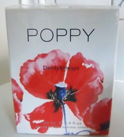 POPPY EAU DE PARFUM SPRAY 100ML BY DAINTY & HEAPS - NEW, BOXED & CELLOPHANE SEALED FREE P&P INCLUDED