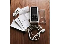 Apple iPod Nano Black 8GB (4th Gen) Boxed with Genuine Charger & Accessories