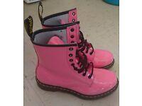 Doc Martens 'Shocking Pink' Size 7