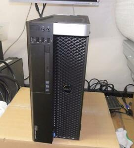 Dell Precision T5600 Tower PC Intel Xeon E5-2609 2.40GHz CPU 8GB RAM DVDRW Windows 7Pro Quadro 600 w/ 1GB