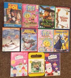 Kids DVD Bundle x 11