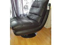 Dfs black modern leather chair