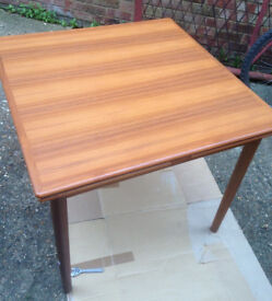vintage square table teak danish Made in denmark with extension