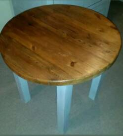 Solid pine rustic bistro table