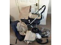 Very nice Sand & Charcoal Bugaboo Cam2 with many extras