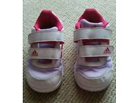 Girls Adidas Trainers Infant size 6
