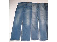 Bundle of 3 men trousers (jeans) size 32/32. Wrangler, Hilfiger Denim Ryder, FCUK. Almost new!