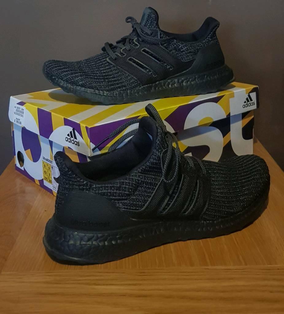 buy online 36637 8d489 Adidas Ultraboost 4.0 Triple black *RARE ONLY UK SIZE 9 PAIR ON GUMTREE* |  in Birmingham City Centre, West Midlands | Gumtree