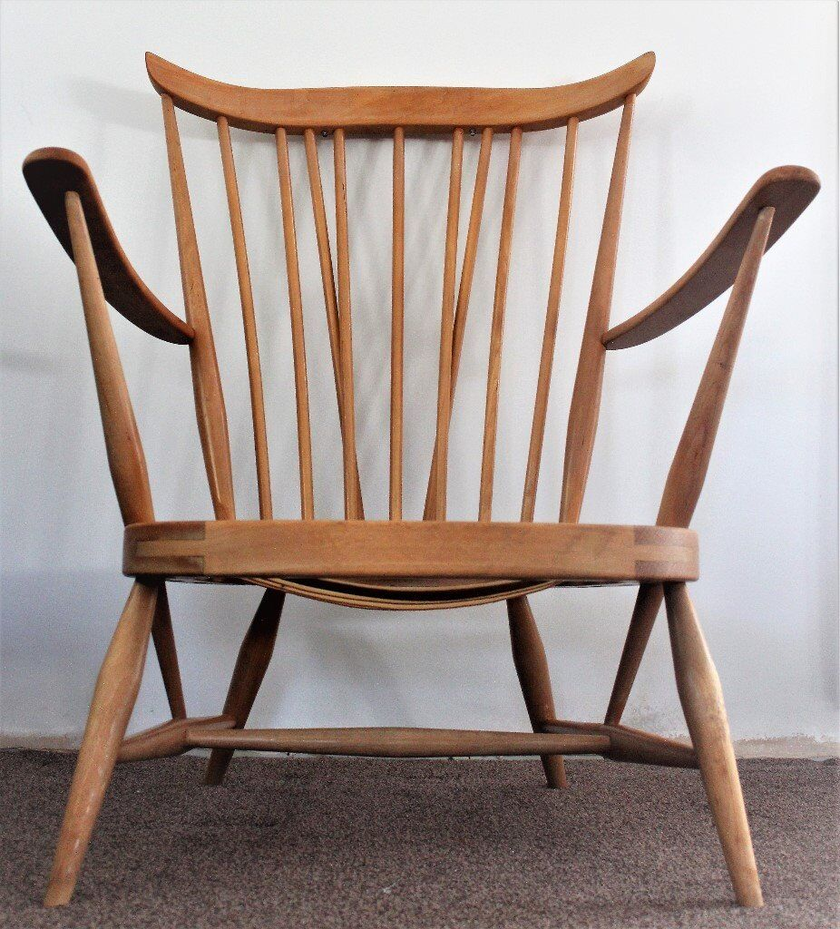 Ercol Easy Arm Chair Windsor 359 Mid Century.