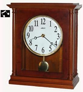 Elegant Red Oak Hardwoods Mantel Chiming Clock - T00036