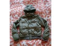 Firetrap brown puffa jacket ladies size M