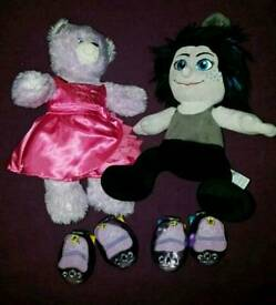 2 Build a Bear Teddies and their rollerblades!