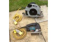 Makita circular saw & Jig Saw 110v