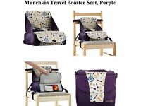 Used once-Munchkin booster seat for dining chair £8