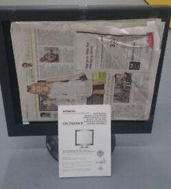 HITACHI CML190SXW B COLOUR LCD COMPUTER 19 inch MONITOR