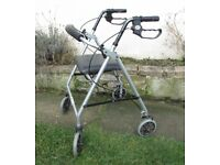 Days Rollator walking aid zimmer seat backrest lightweight adjustable height FREE DELIVERY