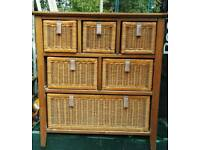 Rattan /wood chest of drawers by NEXT
