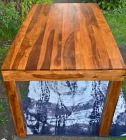 A New Kerala Indian Rosewood Dining Table.