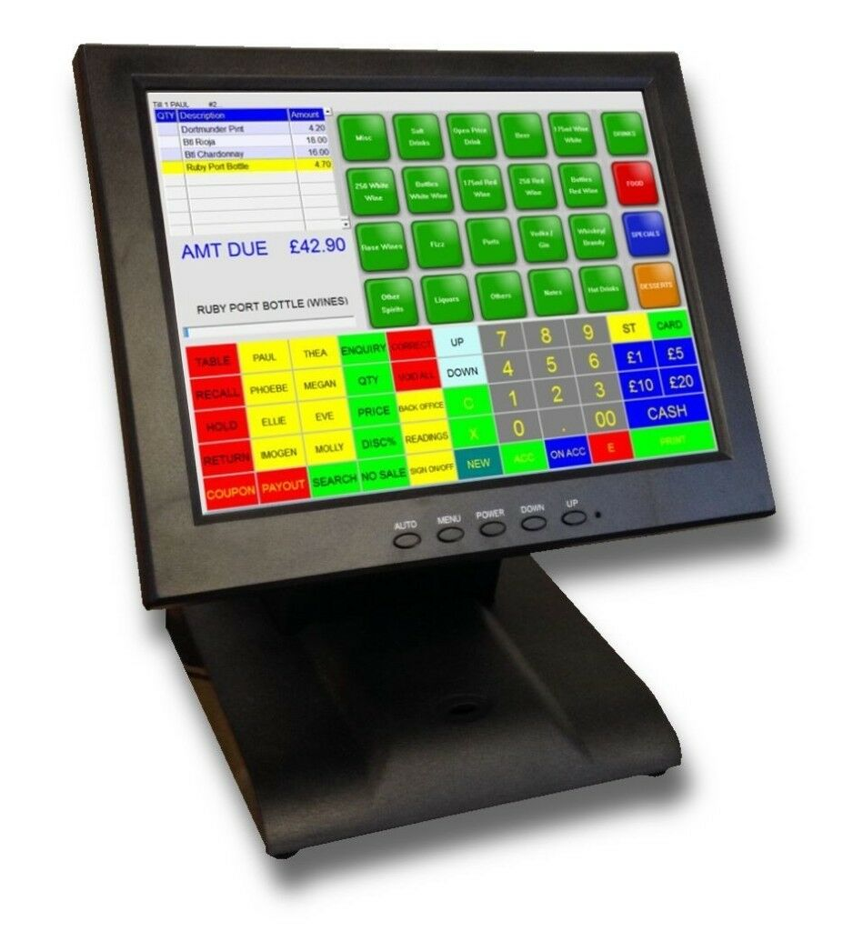 Epos point of sale cash register