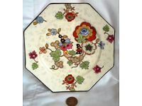 square crown ducal ware sandwich plate