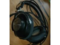 Vintage Sony DR-5A headphones - working 1960s - 1970s