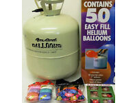 Disposable Helium Gas Canister Cylinder Fills 50 Balloons Included Free Spool of ribbon.....NEW