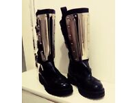 GOTHIC AS NEW ROCK METAL BOOTS GLADIATOR 4.5