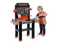 NEW Smoby Black and Decker Kids childrens Bricolo Ultimate Play Workbench toy
