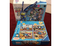 Toy Story puzzle and 4 Thomas and Friend puzzles plus a free puzzle £3