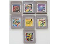 7 games for Nintendo Gameboy Mario & Yoshi, Tetris Plus, Galaxian, Warioland ...