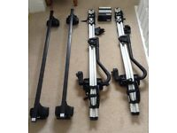 Thule Roof Rack with 2 Thule cycle fittings - fit Audi A3