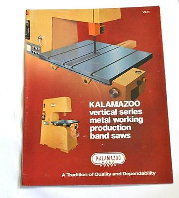 Kalamazoo Vs-84 Vertical Metal Cutting Band Saw Machine Brochure
