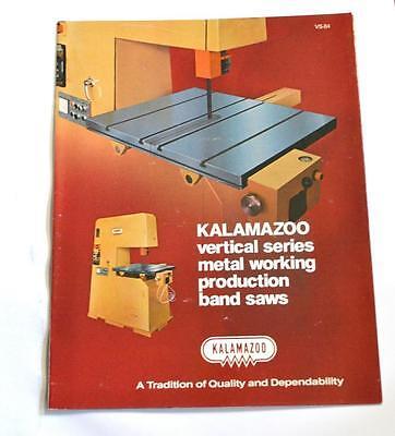 Kalamazoo Vs-84 Vertical Metal Cutting Band Saw Machine Brochure