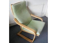 Oak Framed Armchair - Ikea Poang
